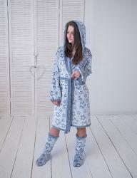 Халат для дома подростковый Eirena Nadine, синий