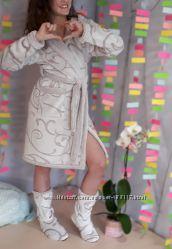 Бамбуковый  подростковый халат Eirena Nadine с сапожками