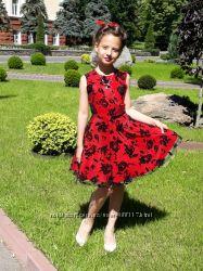 Платье на выпускной в стиле пин-ап Red Rose