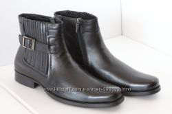 Respect 41р. демісезонні класичні шкіряні чоботи, нові в коробці