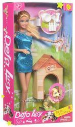 Кукла Defa 8232 с собачкой , с собакой