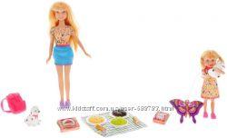 Кукла с дочкой на пикнике Defa 8282