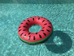 Акция Надувные круги для купания Bigmouth фламинго, арбуз, ананас, пончик