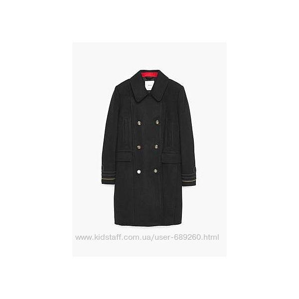 Шерстяное пальто Mango Suit, р. XS, будет и на S, б/у 2 раза