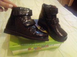 Ботинки  детские демисизонные, кожаные BEBETOM