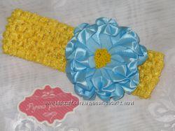 Красиві повязки для дівчаток ручної роботи в стилі Канзаші