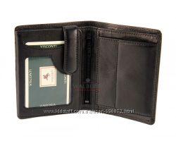 Мужской кожаный кошелек Visconti HT-11 - Brixton Black