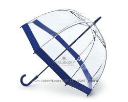 Женский прозрачный зонт-трость Fulton Birdcage-1 - L041 - Navy Синий
