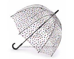 Женский зонт-трость прозрачный Fulton Birdcage-2 L042 - Candy Leopard Конф
