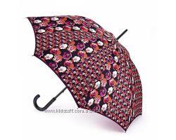 Женский зонт-трость Fulton Kensington-2 L056 - Contrast Retro - Контрастно