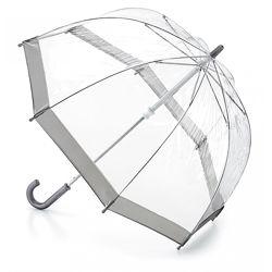 Детский прозрачный зонт-трость Fulton Funbrella-2 C603 Silver Серебряный