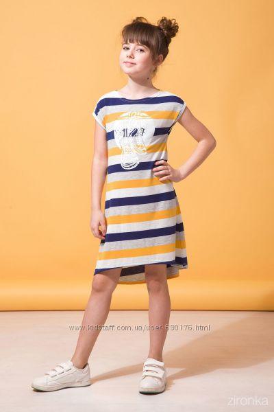 Летние платья для девочек  хлопок р. 110-140