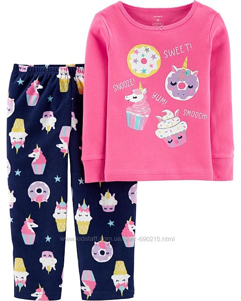Теплая пижама 2т набор carters