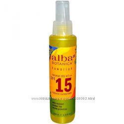 Alba Botanica, Mасло для загара, SPF 15 в наличии