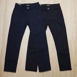 Школа утеплённые коттоновые штаны парням на р. 134-164, Польша