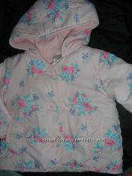 Курточка на флисе деми на малышку от 0 до 7 мес рост до 64 см как новая