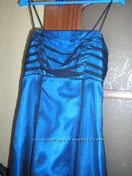Платье длинное вечернее, для выпускного на худышку размер S 40-42