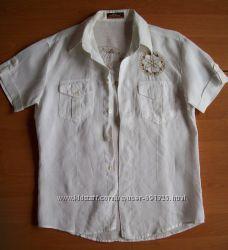 Рубашка лён хлопок, размер S-М.