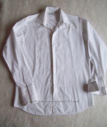 Рубашка белая под запонки, размер 1538