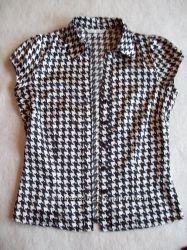 Блузка офисная атлас, размер S