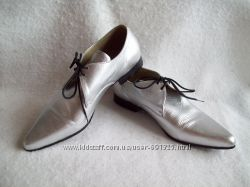 Туфли кожа серебристые, размер 39-40