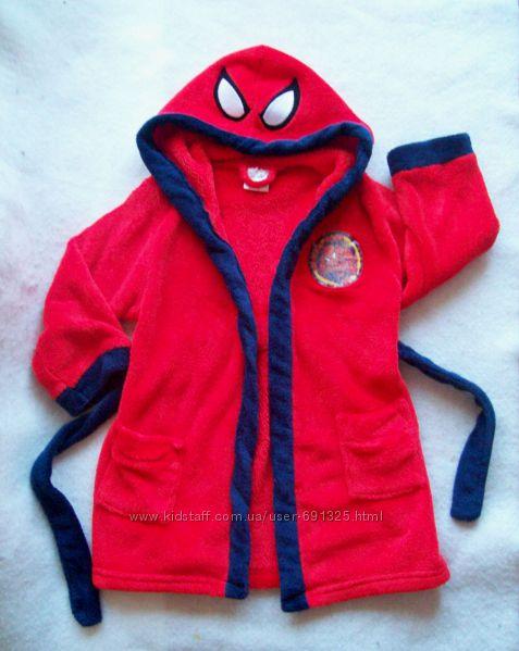 Халат теплый махровый Spiderman, длина 59 см.