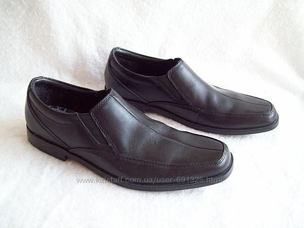 Туфли кожаные узкие подростковые