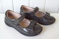 Туфли серые лак кожа, стелька 17 см.