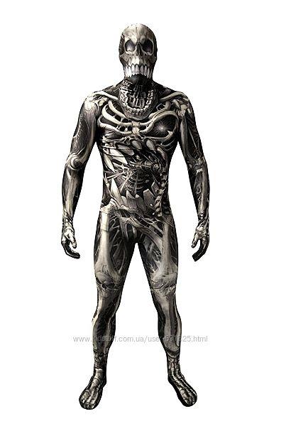 Комбинезон морфсьют Скелет, размер L