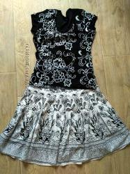Шикарная юбка хлопковая размер 42 евро наш 48