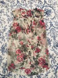 Цветочная блузка h&m