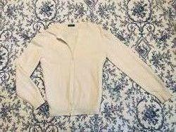 Белый шерстяной свитер, кофта benetton
