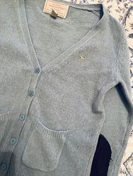 Голубой свитер с латками abercrombie&fitch