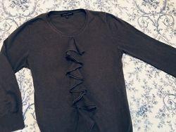 Серый свитер с воланам laura ashey