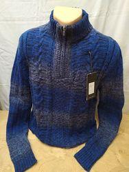 Теплый зимний свитер, полузамок 50-54рр. Расцветки. Турция