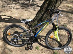 Велосипед подростковый Crossride Shark 24 серый на стальной раме