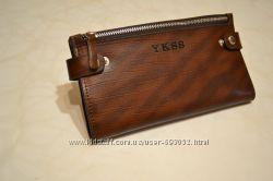 Мужской клатч кошелёк. Натуральная кожа 100