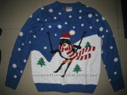 Новогодний свитер. кофта размер L 50-52р-р