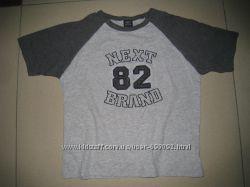 фирменная Next футболка мальчику 6лет, рост 110-116см.