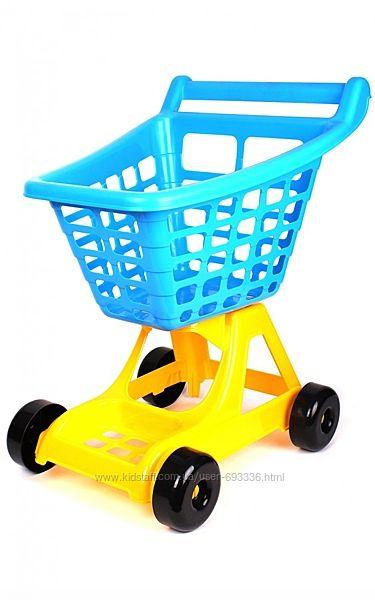 Тележка для супермаркета ТехноК Красная 4227