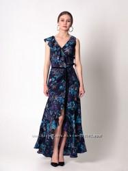 Платье на запах с воланами, скидка