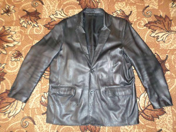 Кожаный пиджак, размер 5XL