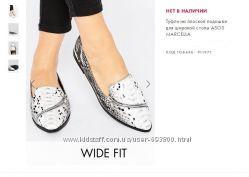 Туфли балетки с ASOS для широкой стопы