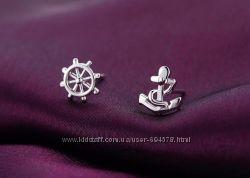 Серьги гвоздики на морскую тематику