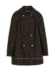Шерстяное леопардовое пальто Zara