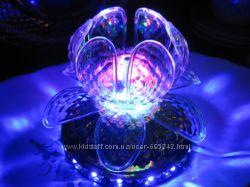 Диско-Шар Светодиодный светильник, цветок-кристалл вращающийся, диско