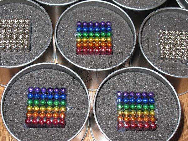 Неокуб цветной качество neocube радужный різнокольоровий 5мм 216