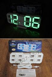 Электронные настольные LED 3D часы с термометром Caixing CX-2218