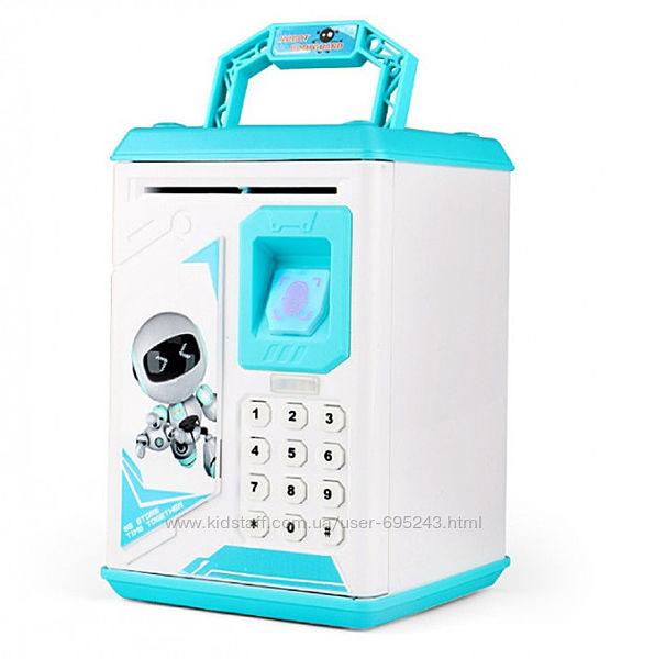 Детский электронный сейф-копилка Робот ROBOT BODYGUARD с отпечатком пальца