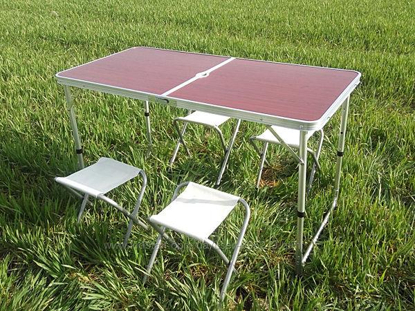Стол для пикника раскладной со 4 стульями Rainberg RB9300 120х60х6.5 см